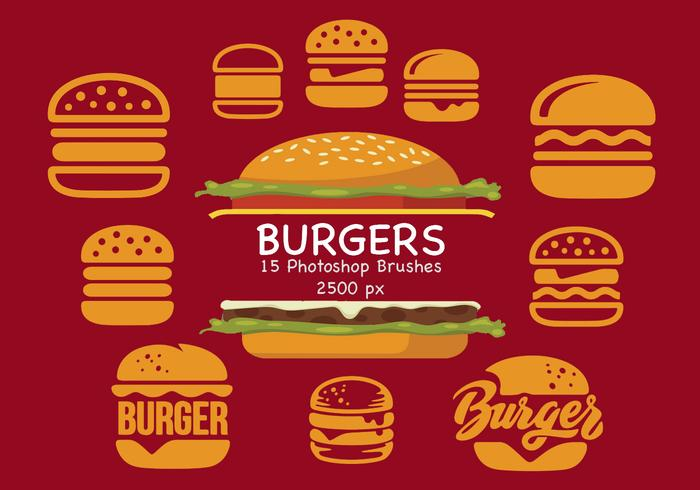 Burgers Photoshop Brushes
