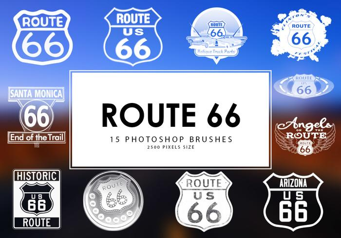 Route 66 Photoshop Pinsel