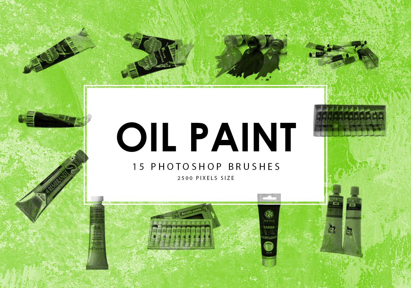 Oil Paint Action Free Brushes - (974 Free Downloads)