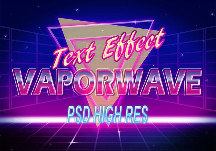 Effet De Texte Vaporwave PSD Photoshop Vaporwave-text-effect-psd-photoshop-brushes