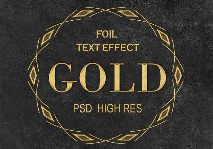 Goldener Folien-Text-Effekt PSD