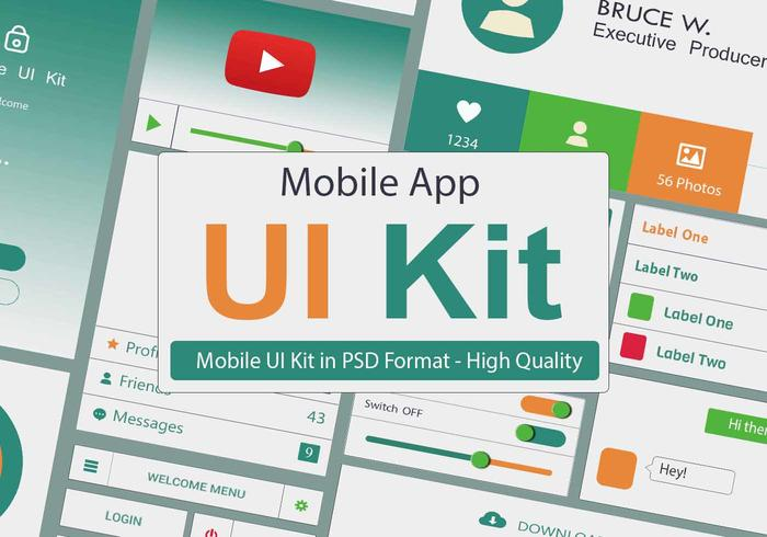 UI-Kit PSD - Application mobile
