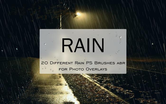 20 Rain PS Brushes abr