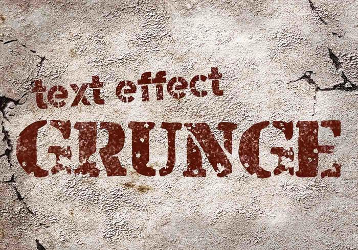 Efectos de texto Grunge PSD