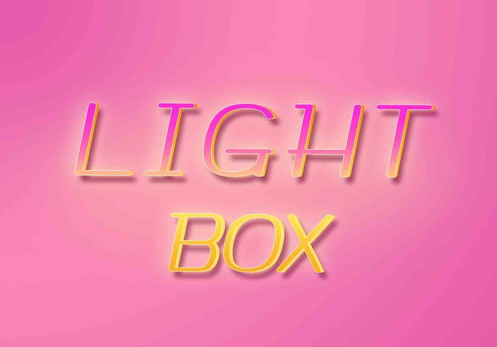 Light Box Text Effects PSD