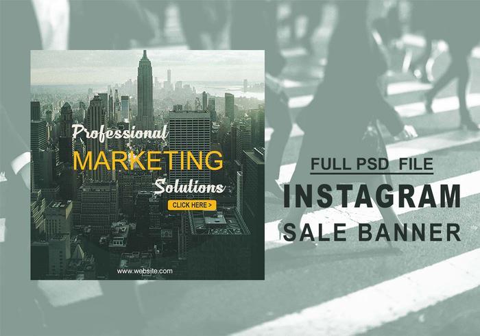 Bannière de vente Instagram PSD
