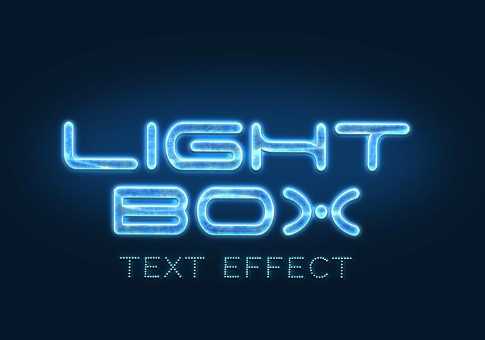 Leuchtkasten Text-Effekte PSD