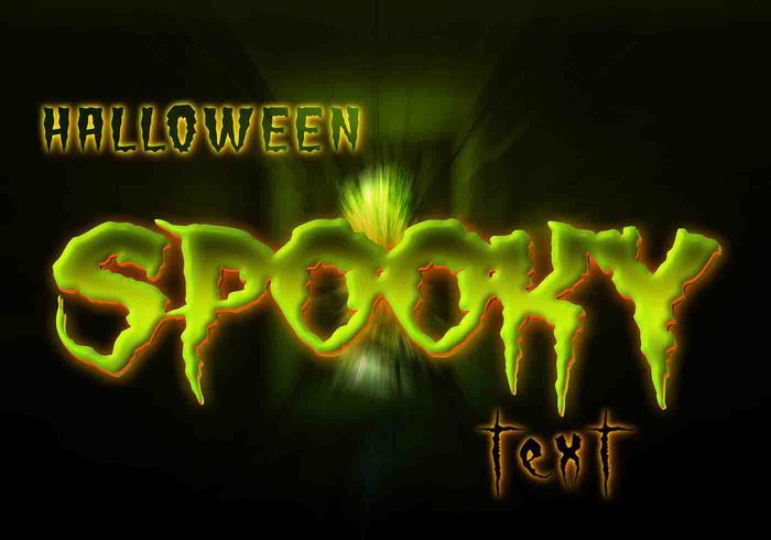 Gespenstischer Halloween-Text PSD