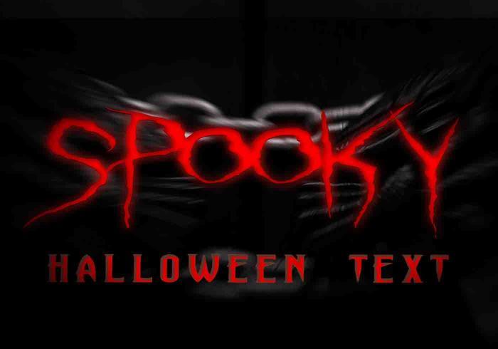 Spooky Halloween texto PSD
