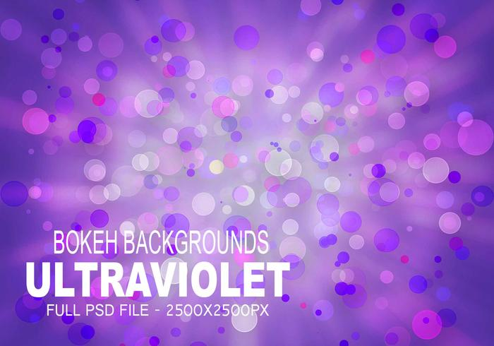 Ultraviolet Bokeh - Full PSD File - Free Photoshop Brushes