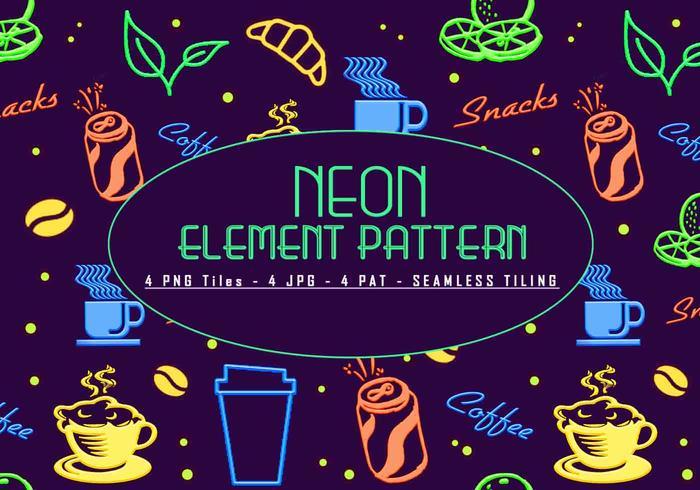 Padrão de elemento de néon