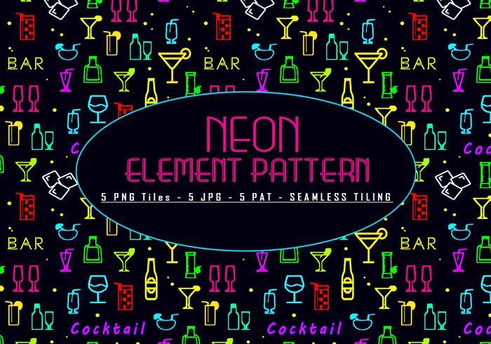 Padrão de elementos de néon