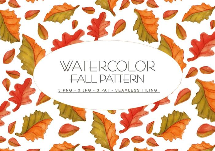 Fall Watercolor Pattern