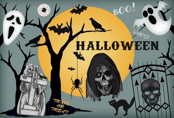 Halloween-Elemente PSD