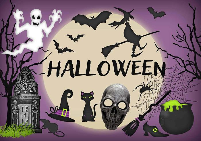 Halloween Elements PSD