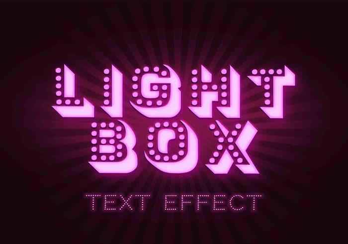 Light Box Effets de texte PSD