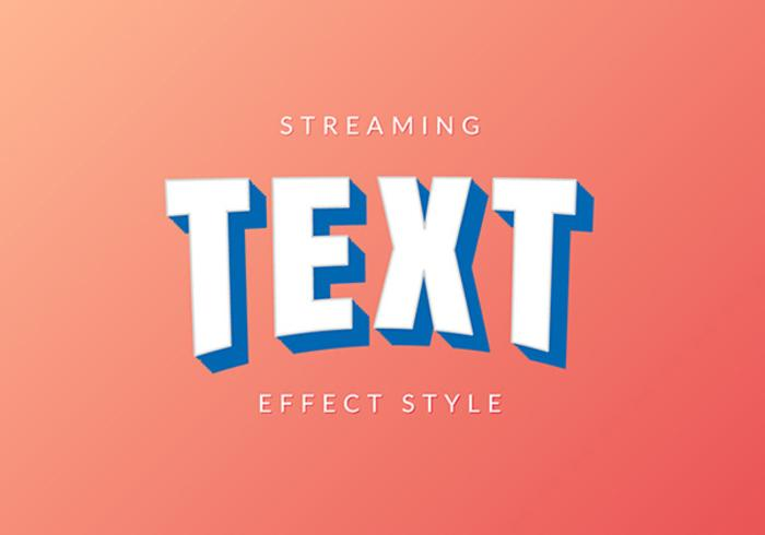 Streaming service stil text effekt