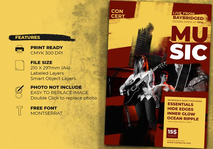 concert event flyer templates free photoshop brushes at brusheezy