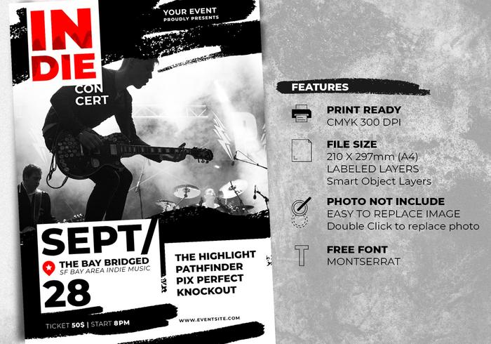Indie Rock Music Festival Flyer Templates
