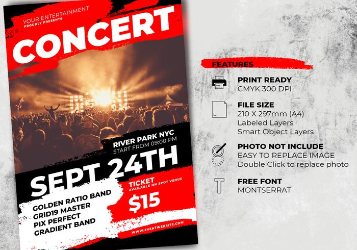 music concert flyer template free photoshop brushes at brusheezy