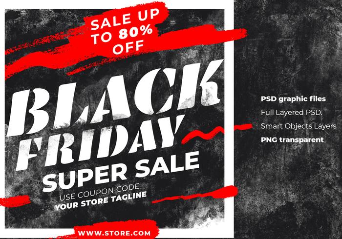 Black Friday Instagram Post Grit Background Template