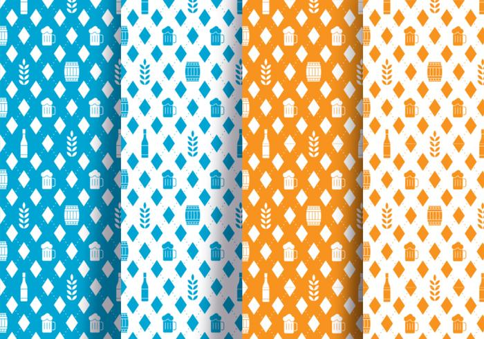 Oktoberfest Diamond Seamless Pattern