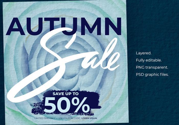 Herbst Sale Instagram Vorlagen Poster