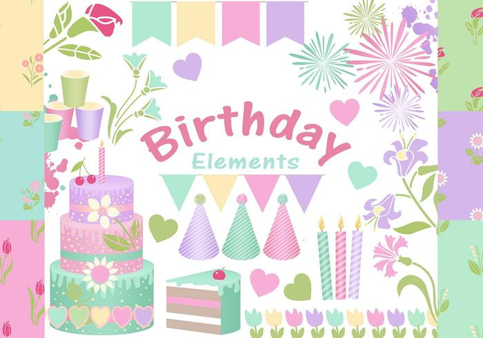 Happy Birthday Elements PSD
