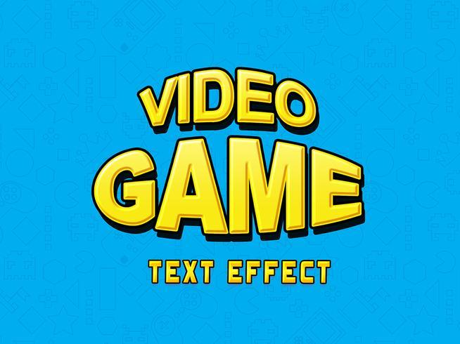 Efeito de texto de videogame PSD
