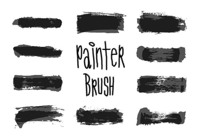 Pack de pinceaux de peintre gratuit
