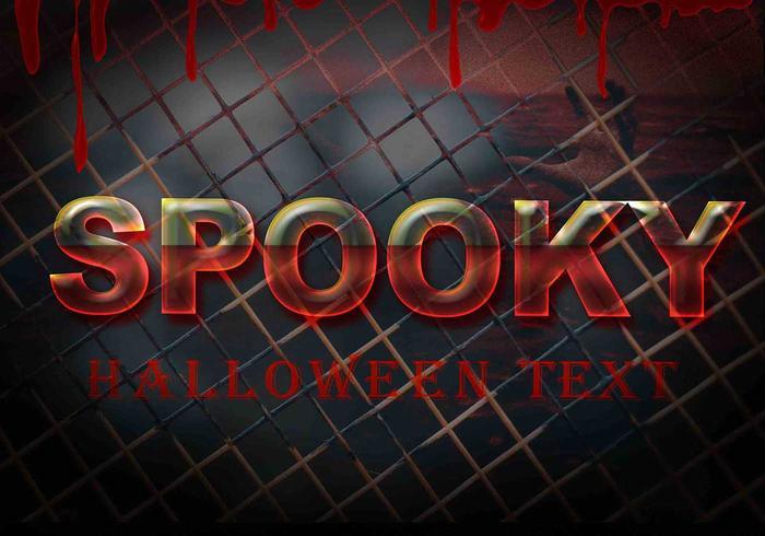 Spookachtige Halloween-tekst PSD