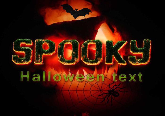 Spooky Halloween Text PSD