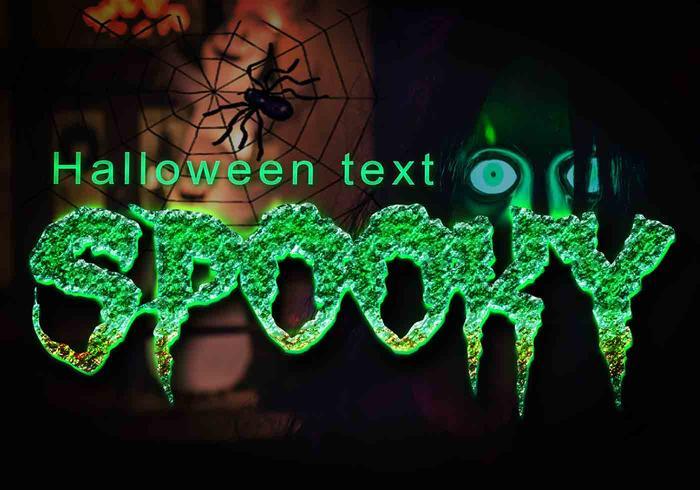 Gruseliger Halloween-Text PSD