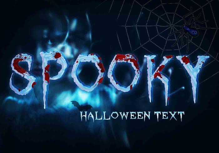 Spooky Halloween Texte PSD