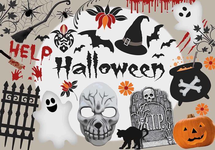 Éléments d'Halloween PSD