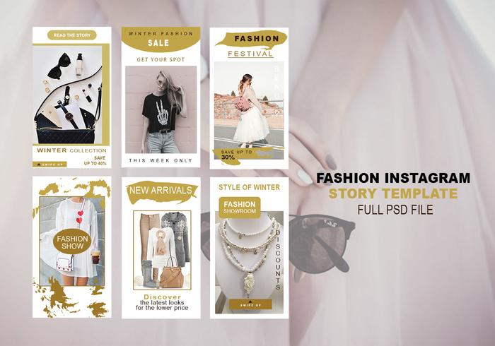 Fashion Instagram Story Template PSD - Free Photoshop
