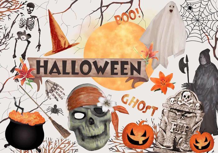 Elementos de Halloween PSD