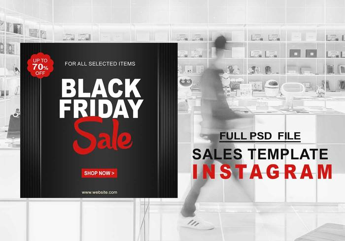 Black Friday Instagram-verkoopsjabloon PSD