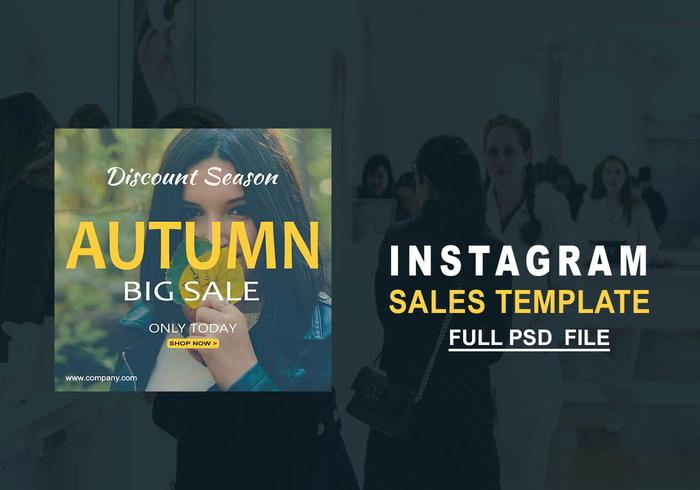 Modèle de vente Instagram Instagram PSD