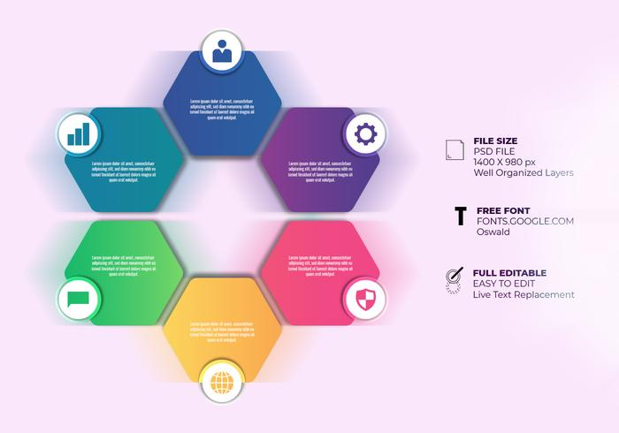 Presentation Business Infographic Six Options Templates