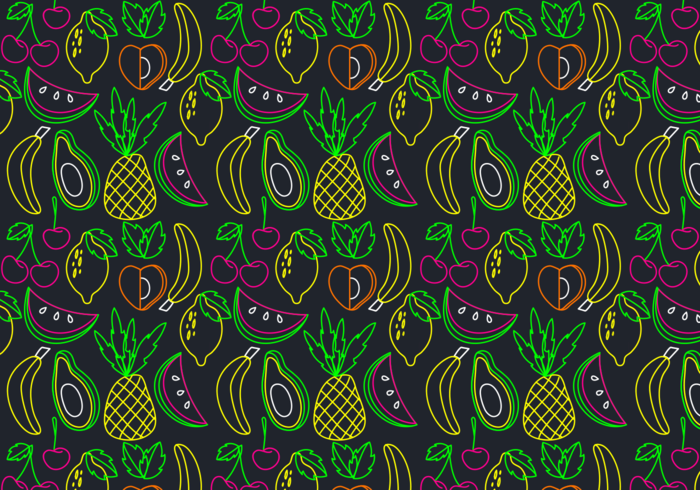 Neon Fruit Seamless Pattern