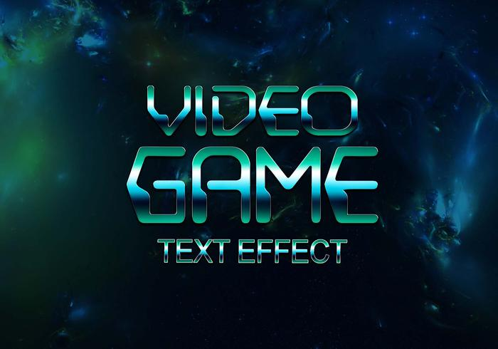 Video Game Text Effect PSD