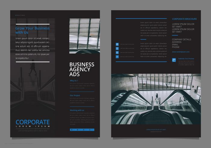 Professional Elegant Corporate Flyer Template Mock Up