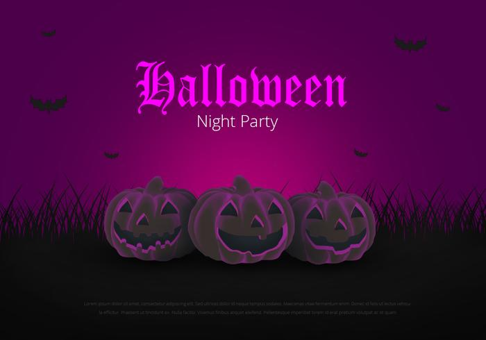 Halloween Party Poster Template. Halloween Yearly Event. Happy Halloween.