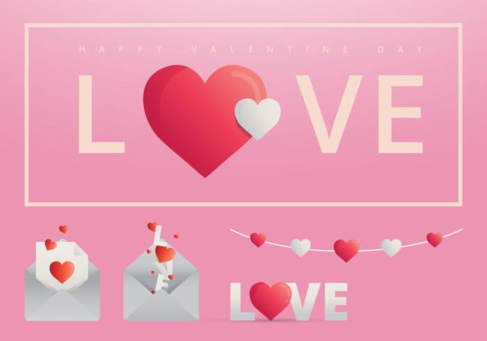 Valentine's Day Element for Greetings, Invitation, Event, Poster Template