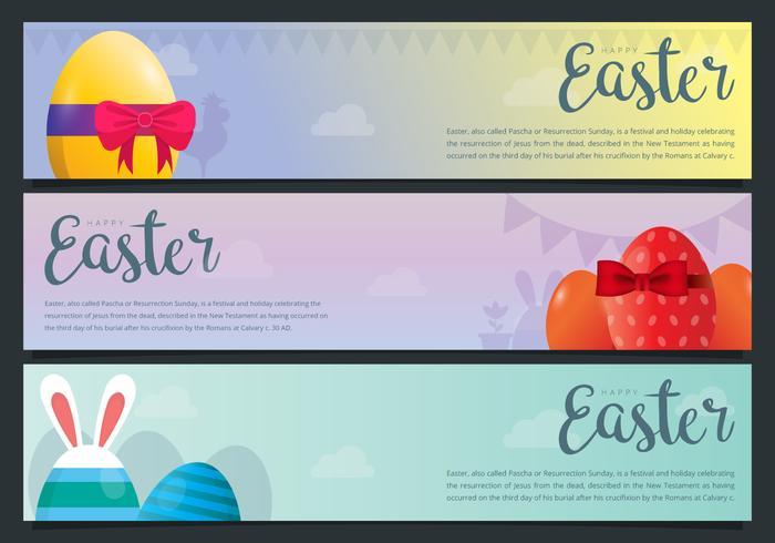 Conjunto de elementos de Pascua. Fondo de pascua Felices Pascuas.