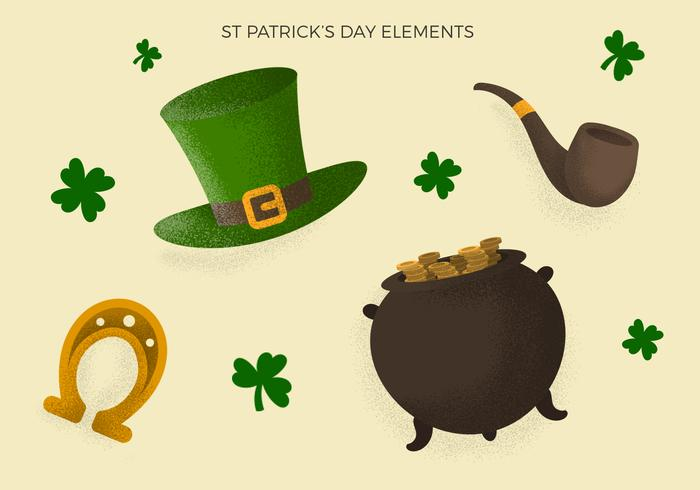 Vintage St Patrick's Day Element Collection
