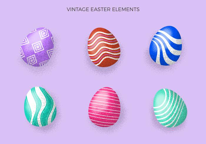 Vintage Easter Eggs Collection