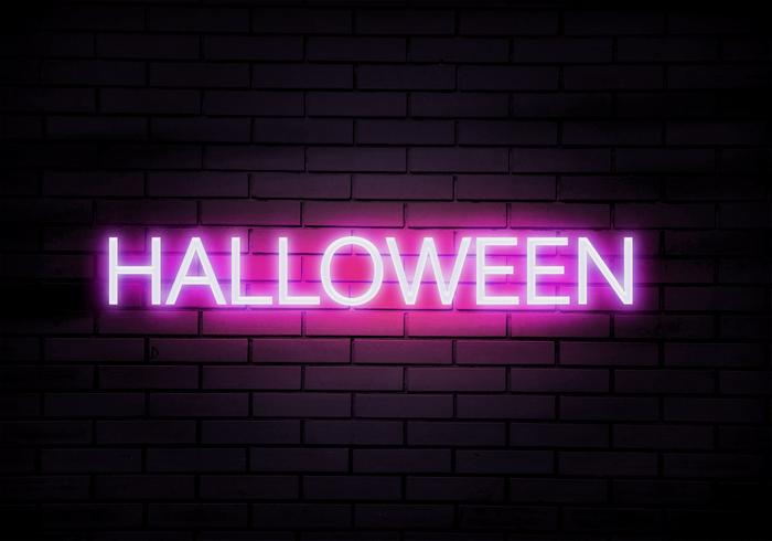 Spooky Halloween Text Effect Mock Up