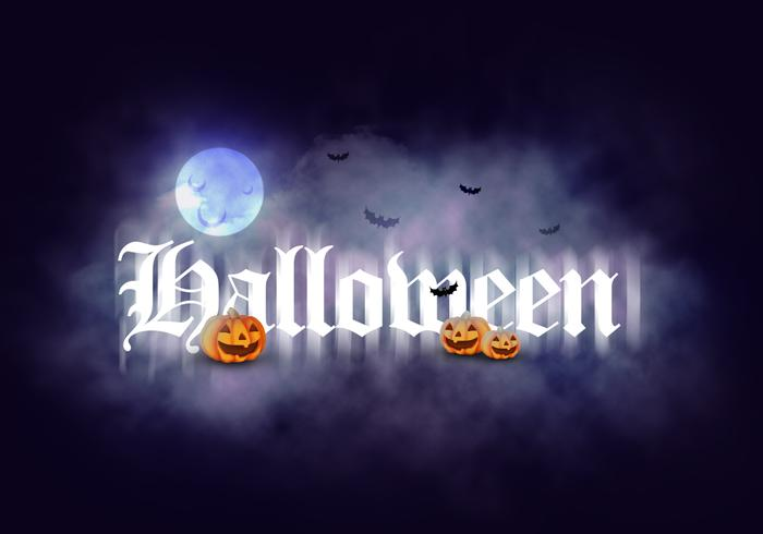 Spooky Halloween Clouds Text Effect